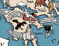Map of Greek Mythology