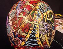 """""""Brain theatre"""" custom motorcycle helmet"""