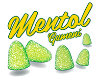 Gum candy menthol package design