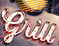 GRILL HOUSE Photoshop 3D