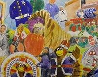 Thanksgiving Parade Illustration