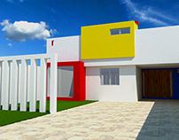 Fachada casa Adame