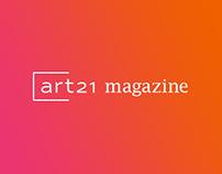 Art21 Magazine Website