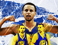 STEPHEN CURRY POSTER AND MAGAZINE LAYOUT