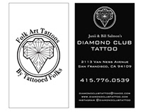 Diamond Club Tattoo Studio business cards