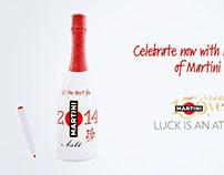 MARTINI Asti Custom Bottle Xmas Campaign | 3D animation
