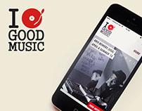 Good Music Company IOS/Android app