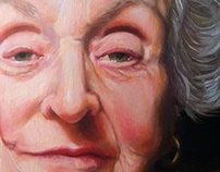 Oil portrait of Gladys(closeup)