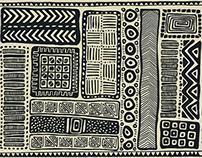 Homespun Wisdom textile designs for Front Row Society