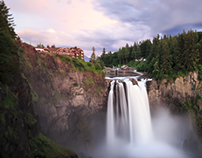 Snoqualmie Falls Twilight Time-lapse