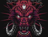 Hell Hound Illustration & T-shirt Design