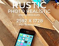 Rustic Photo Realistic iPhone Mockups