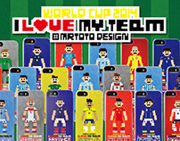 I Love My Team Pixel Graphic of World Cup 2014 Edition