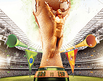 World Cup 2014 Editable flyer template