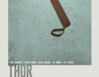Minimal Superhero Posters