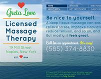 Greta Love Massage Therapy web site