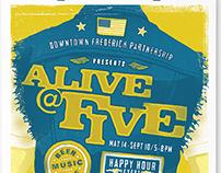 Alive@Five 2015 Concert Series Campaign