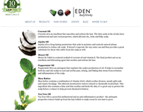 Eden Bodyworks Haircare Product Website