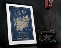 Boston Map: Poster