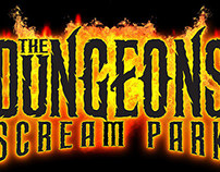 The Dungeons Scream Park Logo Set