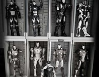 Ironman Papermodel Hall of Armors and Boxes