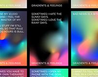 Gradients & Feelings - Poster Series, Inverted