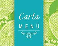 """Carta Cafetería """"Las Terrazas"""""""