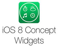 iOS 8 Widgets Concept