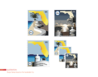 Illustration Fort Lauderdale Stamps