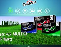 Conceito de Site para a marca Trident