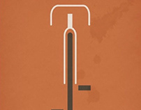Bauhaus Bicycle Art Poster