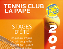 Tri fold A4 - Tennis Club La Pape Summer internship