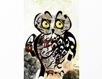 Calligraphy Owl 1