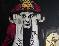 Aleister Crowley painting
