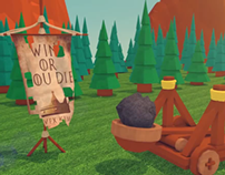 Win or you die (low poly catapult)
