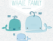 Whale Family // illustration