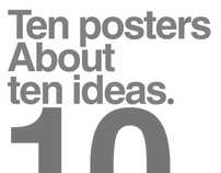 Ten posters about ten ideas
