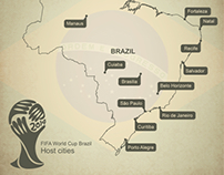 Free map of Brazil World Cup 2014 host cities