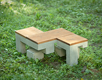 Variable Concrete Street Bench