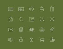 A set of 20 icons for online stores.