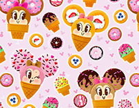 Ice Cream Minnie Mouse pattern