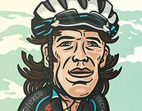 Ilustración ciclista Rigoberto Uran