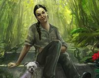 """Jungle Days"" book cover illustration"