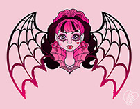 Draculaura Tattoo Design