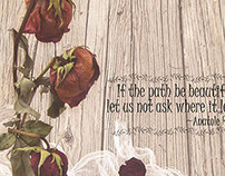 Faded Rose and Quote