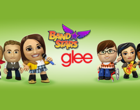 Glee content in Band Stars mobile game