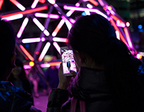 Vivid light festival Sydney 2014 Trough the smartphone