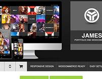 James 2.0 - Responsive Portfolio Woocommerce Theme