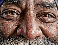Portrait retouching of Indian man