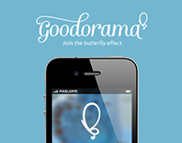 Goodorama. Global identity and iPhone app.